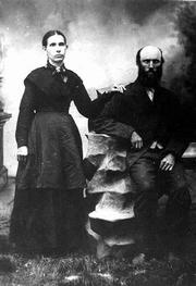 Suzanah Flory, the daughter of Jacob Ulrich. Born in 1854, she died in 1938.