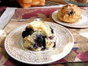 Karen Wagner's fresh-baked flavors include blueberry-bursting scones. Her baked goods are sold in Lawrence at La Prima Tazza, Henry's, Classic Gourmet and Z's Divine Espresso.