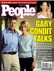Gary Condit and his wife, Carolyn, appear on the cover of the People magazine that will be on newsstands Friday. Tonight Condit will be interviewed by Connie Chung on ABC-TV.