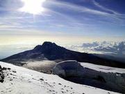 Even though Mount Kilimanjaro is near the equator, winds at the summit prevent climbers from enjoying the view for too long. Bryan Haack spent 10 minutes at the top, but managed to snap 30 pictures before his camera froze.