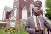 St. Luke AME Church announced earlier this month that the building at 900 N.Y. has been placed on the Register of Kansas Historic Places and is on track for listing with the National Register of Historic Places. Writer Langston Hughes attended services at the church as a boy. Rev. Verdell Taylor, pictured at the church Friday, says it is the last standing building in Lawrence that can be connected to Hughes' early days.