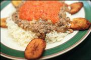 Bobo's Buka, 1511 W. 23rd St., serves a variety of African, Caribbean, Jamaican and soul food, including this bean and rice plate garnished with plantains.