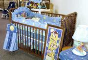 New and used baby cribs, bedding and room decor are for sale in The Elephant's Trunk, 4821 W. Sixth St.