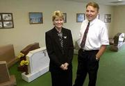 Donna Mathena-Menke and Chris Hutton are partners in Lawrence Funeral Chapel, a mortuary and monument business that will be located in a new building at 3821 W. Sixth St. The chapel is expected to open by year's end.