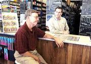 Larry's Auto Parts, 1502 W. 23rd St., ends its 32-year run as competition increases, customers shift and vehicles run better and longer than ever before. At the store Friday are former owner Larry James, left, and store manager Jeff Riner.