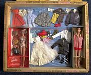 A vintage Fashion Queen Barbie and Ken doll set sits in its original packaging at the Doll Attic in Union City, Calif. The set is just a part of the many old and new Barbie dolls sold at the store owned by Sandi Holder.
