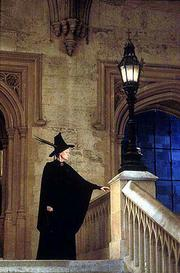 "Maggie Smith upholds the traditional witch image in the film version of J.K. Rowling&squot;s ""Harry Potter and the Sorcerer&squot;s Stone."""