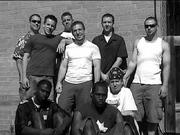 "KB Posse&squot;s Arron D, far right, poses with members of Phat Albert, DVS Mindz and The Zou last summer, shortly after collaborating on the track ""Devious."""