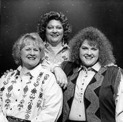 "Patti Van Slyke, left, Teri Walton, center, and Cecilia Yager play amateur singers heading for Nashville in Topeka Civic Theatre&squot;s ""Honky Tonk Angels."""