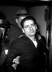 Self-confessed Boston Strangler Albert DeSalvo is seen minutes after his capture Feb. 25, 1967. Some now believe, based on DNA and other evidence, that DeSalvo was not the strangler.