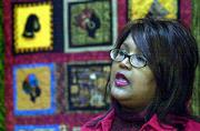 Local artist Marla Jackson shares the inspirations that led her to make quilts depicting black history. Jackson talked Sunday at the Watkins Community Museum of History before members of the Douglas County Underground Railroad Assn. She said she drew some of the themes for her quilts from conversations she had with her great-grandmother, who was a slave in the South before the Civil War.