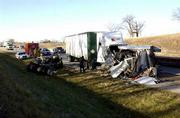 An accident Wednesday morning on the Kansas Turnpike east of Lawrence killed one driver and closed the eastbound lanes for several hours.
