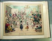 """Breaking Up"" by George Cruikshank, published in London&squot;s ""The Royal Exchange"" on December12, 1824"