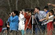 Several dozen people traveled through Clinton Lake State Park and toured spots frequented by bald eagles. The bird-watching event Sunday afternoon was part of the 2002 Kaw Valley Eagles Day.