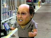 A Danny DeVito figure hawks a can of reformulated Lipton Brisk in one of several Pepsi commercials set to air during Sunday's Super Bowl. Pepsi has bought three minutes of ads during the game.