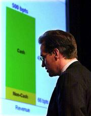 H&R Block aims to expand its relationship with its customers beyond the annual tax-filing season by offering financial planning, home mortgages, brokerage services and even private wealth management. Mark A. Ernst, the company's president and chief executive officer, prepared slide charts for a conference this week in New York.