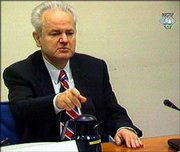 Former Yugoslav president Slobodan Milosevic opened the second week of his war crimes trial Monday at The Hague, Netherlands.