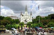 St. Louis Cathedral is the centerpiece of Jackson Square in the historic French Quarter of New Orleans. The French Quarter is the heart of the Crescent City, but attractions abound throughout town.