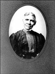 Rebecca Harvey, shown in a photo taken about 1900, was among the earliest blacks who came to Lawrence during the Civil War. Her son, Fredrick Harvey, was a Lawrence physician who ran his practice from an office at 730 Mass.