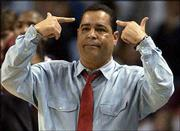 Oklahoma coach Kelvin Sampson encourages his Sooners to play smart.