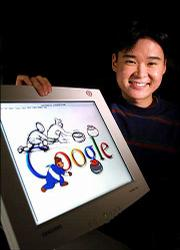 Dennis Hwang is the artist whose original designs add humor and timeliness to the Google Web site logo.