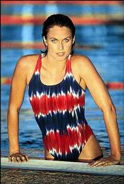 Swimsuit styles for 2002 include a tie-dye from Speedo, a tie-top tankini from Liz Claiborne Swimwear and a modern skirted suit by Rose Marie Reid.