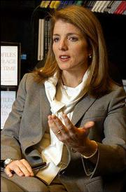 "Caroline Kennedy says an update of her father&squot;s award-winning book, ""Profiles in Courage for Our Time,"" was ""an important thing to do"" for her family."