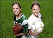 Free State High twins Amy, left, and Katy Vormehr have been four-year starters for their spring teams. Amy is a softball infielder, while Katy plays soccer.