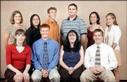Lawrence Journal-World area Academic All-Stars, front row from left, are Catherine Kelly, Lawrence Free State; Bryan Gurss, Tonganoxie; Katrina Cook, McLouth; and Bryce Huschka, Ottawa. Back row from left are Leslie Short, Lawrence High School; Lynn Feng, FSHS; Micah Salkind, FSHS; Patrick Bengtson, LHS; Julia Gegenheimer, LHS; and Amanda Pearce, Wellsville.