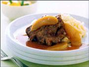 Maple Syrup and Apple Braised Pork With Horseradish Mash uses a stylish combination of ingredients to dress up meat and potatoes, while still staying within low-fat bounds.