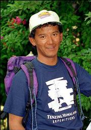 Tashi Wangchuk Tenzing, seen in this May 1997 file photo, in Katmandu, Nepal, climbed Mount Everest Thursday 49 years after his famous grandfather, Sherpa Tenzing Norgay, became one of the first two men to climb the world's tallest mountain.