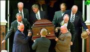 Pallbearers carry the casket of legendary golfer Sam Snead. The memorial service was held Sunday at St. Luke's Episcopal Church in Hot Springs, Va. Snead died Thursday at the age of 89.