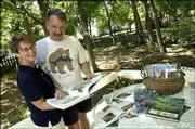 Using information gathered from books, magazines, newspapers, television and the Internet, Jan and Harvey Irby plan to landscape the back yard of their home, which they moved into less than a year ago. After building a wooden deck, the couple is ready to install a fence and plant a shade garden.