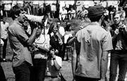 Kansas University students protest the Vietnam War on campus in this May 4, 1969, file photo. Author Rusty Monhollon has written a book describing the political and racial tension that was rampant in Lawrence in the 1960s.