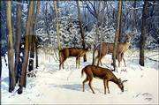 A winter landscape by Jim Smith shows off the artist's eye for detail.