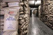 More than 100,000 square feet of warehouse space is committed to storing dry milk in a Kansas City, Mo., underground warehouse, located in Hunt Midwest SubTropolis. The warehouse facility is literally stacked floor to ceiling with dry milk.