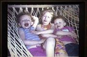 Alexandra Slack, 5, center, and twins Claudia and Colletta, 3, died Thursday in a fire in Gloucester City, N.J.