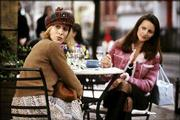 "Sarah Jessica Parker, who plays Carrie, left, and Kristin Davis, who plays Charlotte, appear in a scene from HBO&squot;s ""Sex and the City,"" in this undated publicity photo. The series returns Sunday for a fifth season."