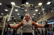Retired pilot John McMannus, 76, got the exercise bug when he was 50. Now he works out daily at the Sports Club in Los Angeles.