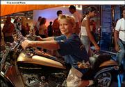 Devin Mottern, 6, Cartersville, Ga., was one of thousands who enjoyed the Harley-Davidson 100th Anniversary Open Road Tour in Atlanta, the world's largest rolling birthday party. Atlanta was the first stop of a 10-city worldwide celebration that leads to Milwaukee. The second leg of the tour will be Aug. 16-18 in Baltimore at the Pimlico Race Course.