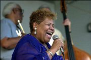 Singer Myra Taylor, a link to the heyday of Kansas City jazz, performs at Washington Square Park in Kansas City, Mo. Taylor, who released a CD last year, is celebrating two top awards from Living Blues magazine.
