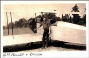 This is an undated photo of John Miller with a Canuck airplane. Miller, now 96, still flies, though the Canuck and airplanes he flew for Eastern Airlines now hang in museums.