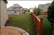 The lawn on 1008 Langston Court after the sod work.