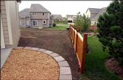 The LAWN on 1008 Langston Court before the sod work.