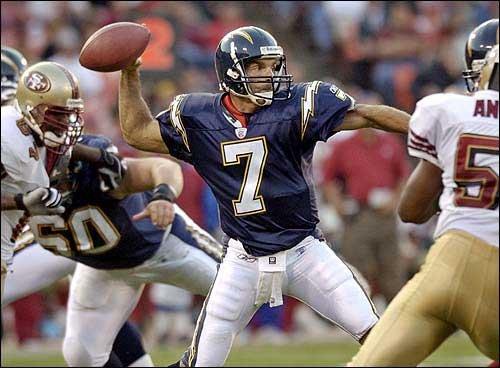 Photo San Diego Quarterback Doug Flutie Passes During A