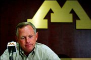 Minnesota football coach Glen Mason discusses the death of Gopher freshman Brandon Hall.