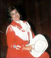 "Diana Guthrie/Special to the Journal-World Annette Cook portrays Patsy Cline in ""Always Patsy Cline"" at Lawrence Community Theatre."