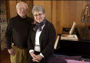 Dave and Gunda Hiebert, winners of a Phoenix Award for Arts Volunteer, invite KU music students to perform recitals in their home.