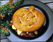 A Smilin' Jack Sandwitch is easily made with frozen bread dough rolls, cut into a pumpkin face that you can use to top your favorite sandwich fillings perhaps beef and cheese.