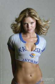 "Tonganoxie native and Kansas University senior Carey Oroke is one of the student models in the 2003 Jayhawk Bookstore Women of KU calendar. <table style= ""border: 1px solid #cccccc; padding: 1px; background-color: #eeeeee;"" cellpadding=""0"" cellspacing=""0"" border=""0""> <tr> <td> <center><img src= ""http://www.ljworld.com/art/bar_enhanced.gif""></center> <br> <span class=""navdots"">¢</span> <a href= ""http://www.kusports.com/womenofku/galleries/carey.html""><b>More on Oroke</b></a><br> See expanded photo galleries of Carey Oroke, listen to a recent interview with her, or see a behind-the-scenes video of her calendar photo shoot.</td> </tr> </table>"